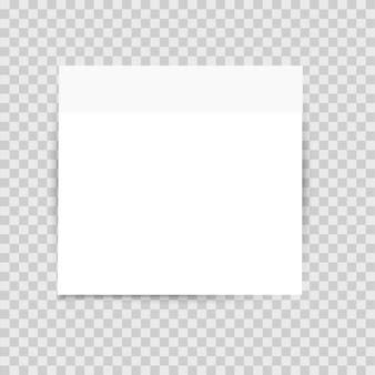 Lista de etiqueta de papel com sombra no fundo transparente