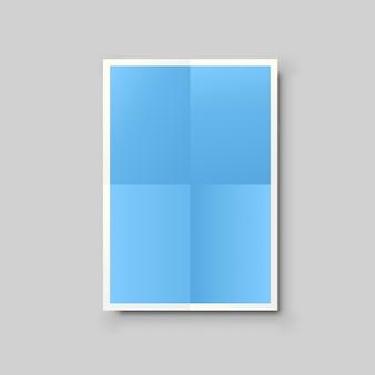 Lista de papel azul