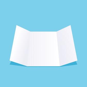 Lista de papel em azul