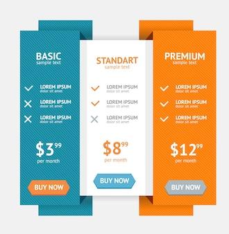 Lista de preços para aplicativos e site
