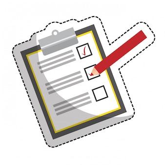 Lista de verificação com marca de seleção