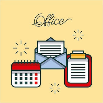 Lista de verificação do office calendário de e-mail trabalho