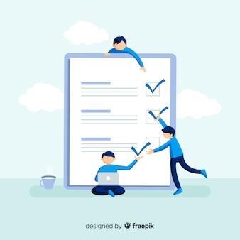 Lista de verificação gigante da equipe de trabalho lista de verificação