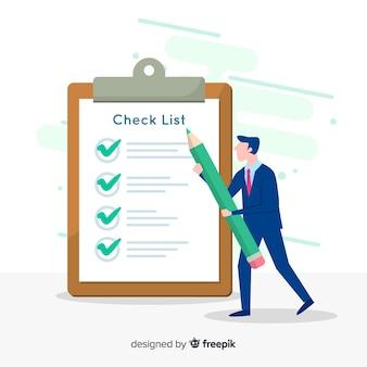 Lista de verificação gigante