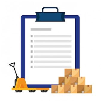 Lista de verificação sobre ilustração pushcart