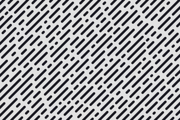 Listra diagonal mínima abstrata e padrão de linhas redondas.