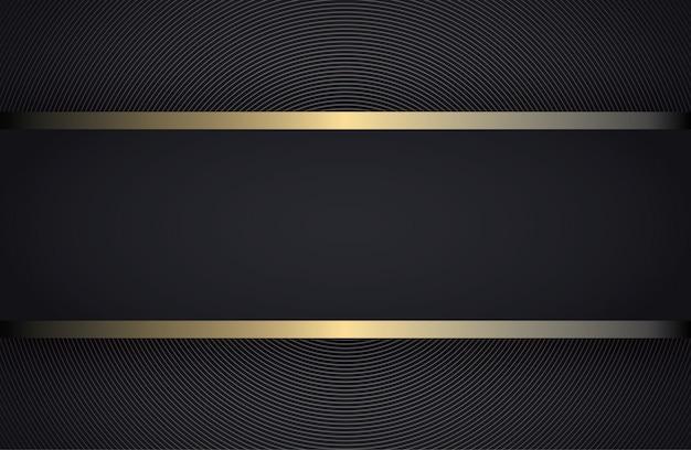 Listra preta com borda de ouro sobre o fundo escuro