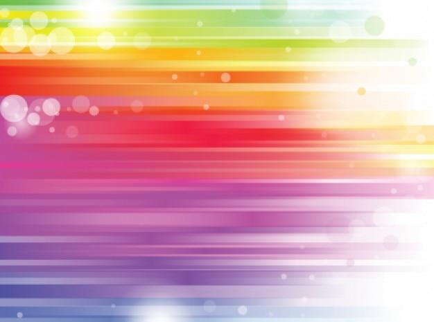 Listras arco-íris com o brilho de fundo brilhante