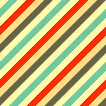 Listras diagonais cores retrô, padrão sem emenda