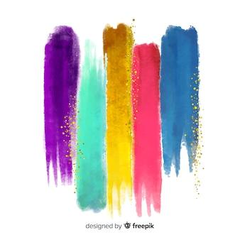 Listras em aquarela com fundo glitter