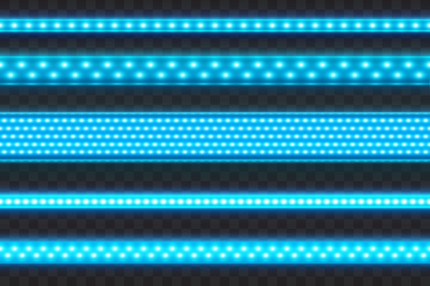 Listras led azul brilhante sem costura