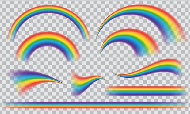 Listras multicoloridas arco-íris isoladas