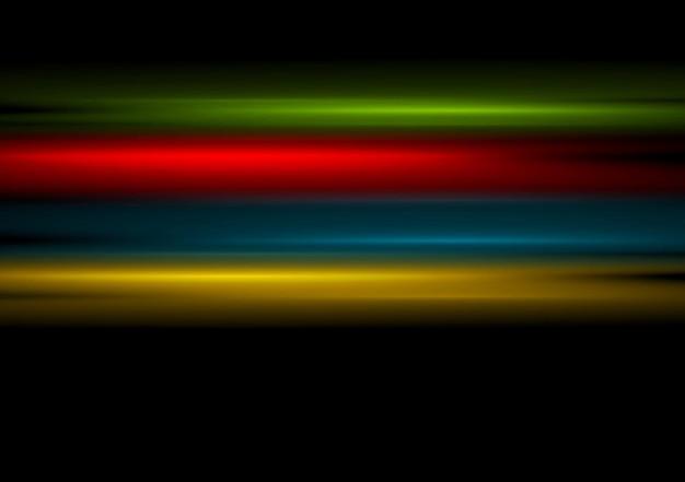 Listras multicoloridas em fundo preto. desenho vetorial