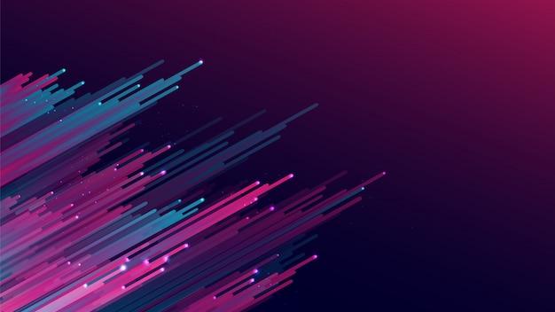 Listras roxas abstratas do rosa do inclinação no fundo cor-de-rosa roxo escuro do inclinação