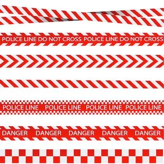 Listras vermelhas e brancas