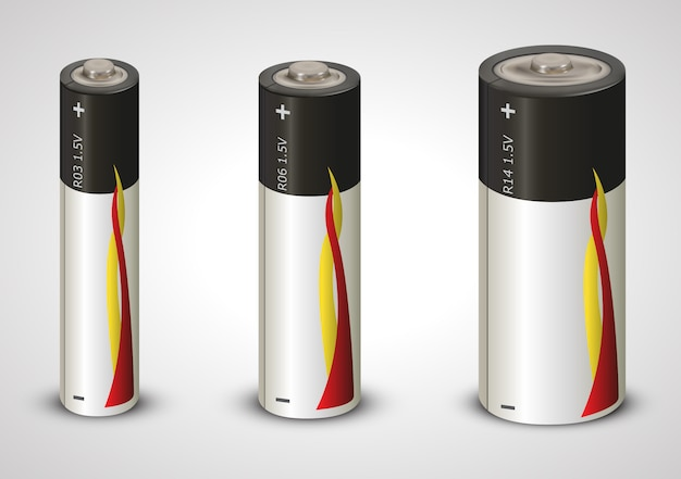 Lítio 1,5v da bateria