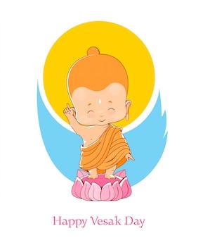 Little buddha aniversário vesak day