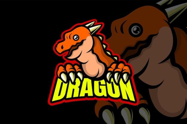 Little dragon - modelo de logotipo esport