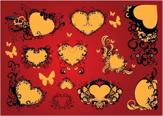 Livre amor coração decoração arte vetorial