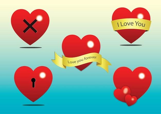 Livre coração clip art vector
