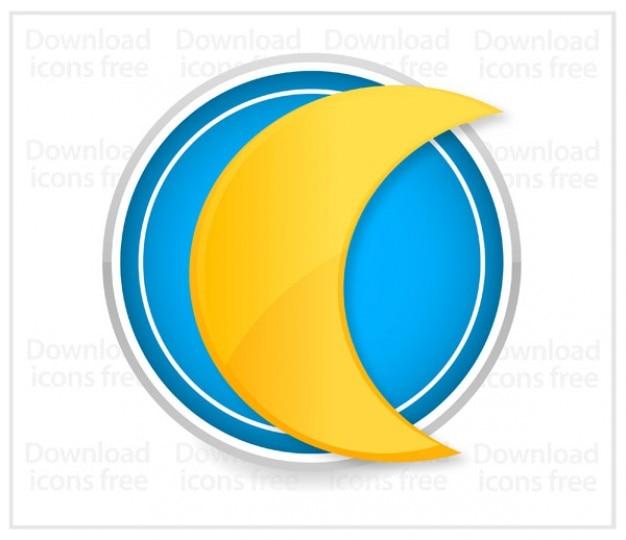 Livre do vetor ícone amarelo lua