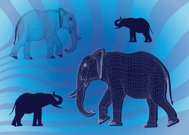 Livre gráficos elefante