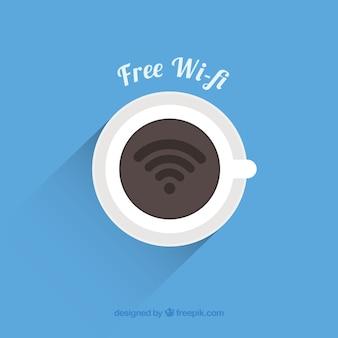 Livre wifi fundo com copo