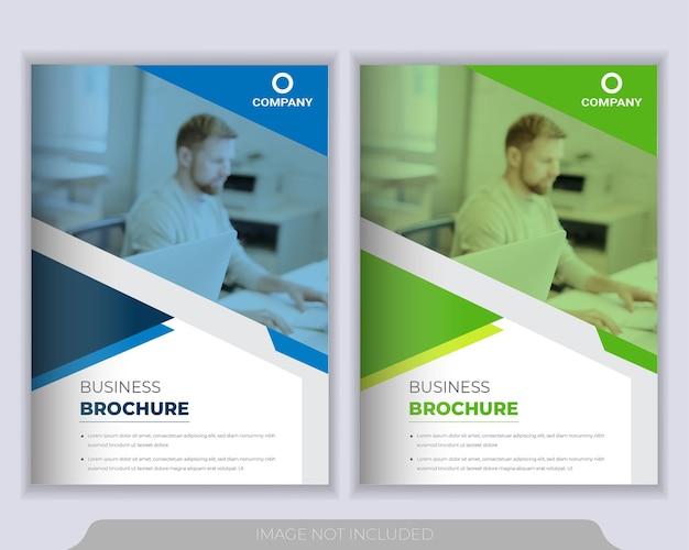 Livreto corporativo, relatório anual e modelo de design de capa de brochura