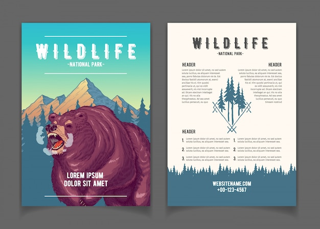 Livreto de promo dos desenhos animados do parque nacional