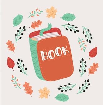 Livro aberto com ilustração