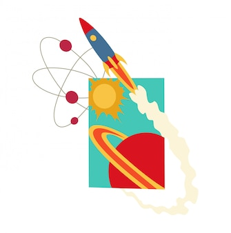 Livro aberto com sistema solar