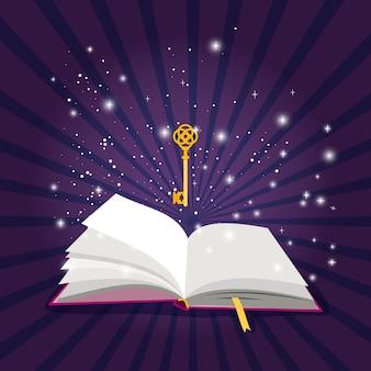 Livro aberto de magia