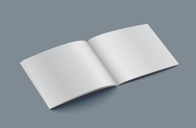Livro aberto pape em branco