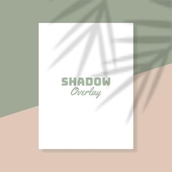 Livro branco com efeito de sobreposição de sombra