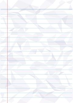 Livro branco de linha azul amassado