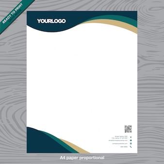 Livro branco de negócios com logotipo