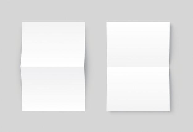 Livro branco em branco do vetor dois aberto.