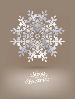 Livro branco floco de neve de natal.
