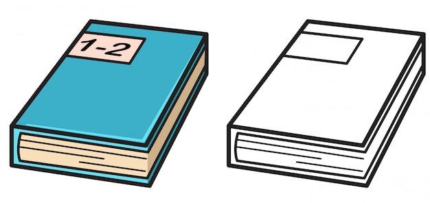 Livro colorido e preto e branco para colorir livro