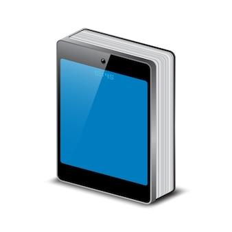 Livro com capa de smartphone