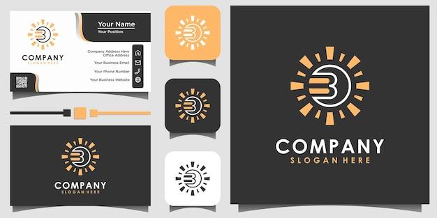 Livro com vetor de design de logotipo de sol