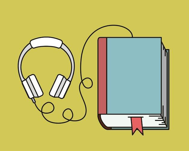 Livro de áudio isolado ícone vector ilustração design