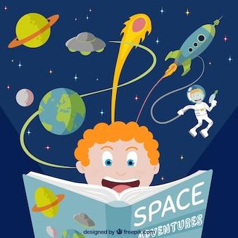 Livro de aventura espacial