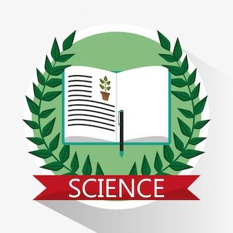 Livro de biologia científica aprende escola