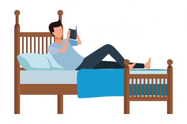 Livro de cama homem sem rosto