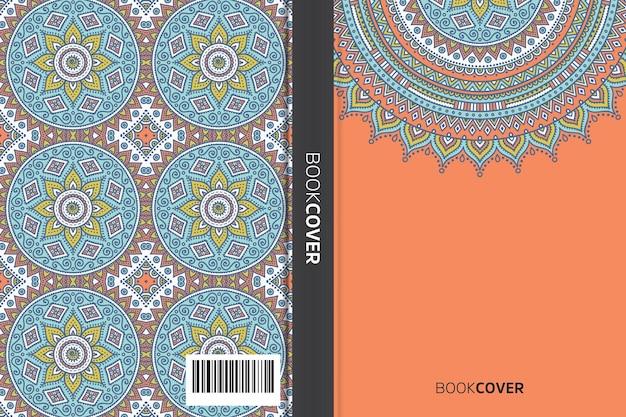 Livro de capa com design de elemento de mandala