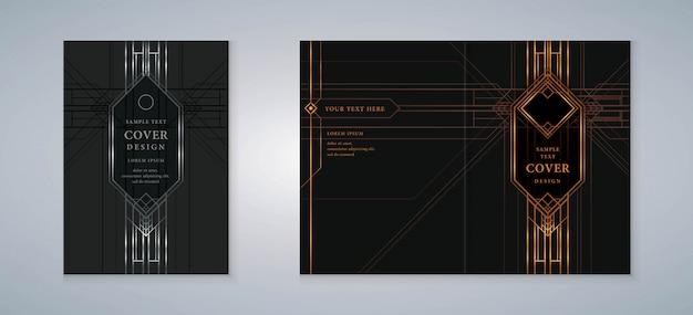 Livro de capa gatsby design set