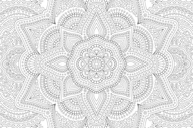 Livro de colorir com padrão abstrato
