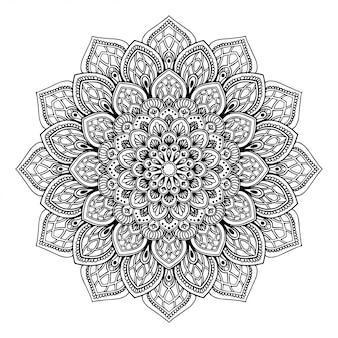 Livro de colorir de mandala, terapia oriental