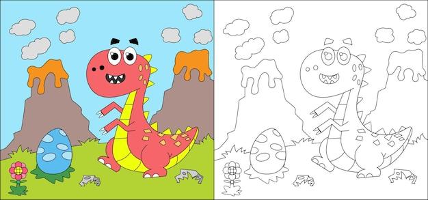 Livro de colorir dinossauro para crianças